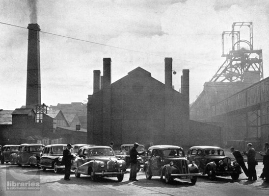 Car Rally at Fryston Colliery, Castleford